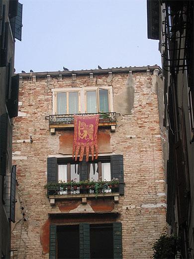Drapeau vénitien du côté de San Polo