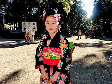 L'enfant en kimono
