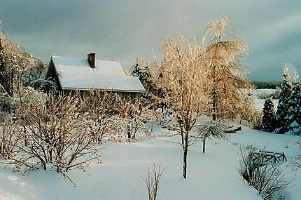 hiver en Gaspésie
