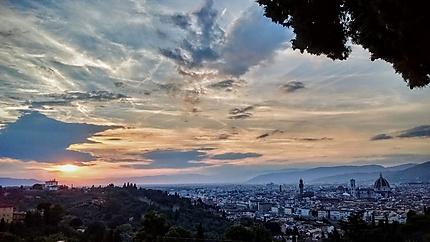 Vue sublime sur Florence