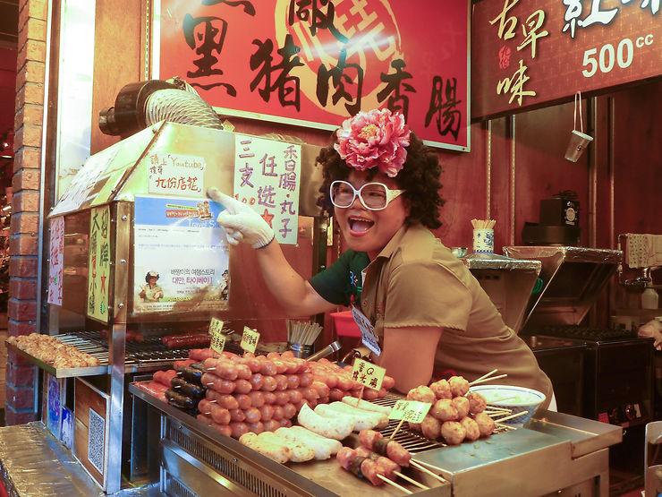 Excentricité d'un marché taïwanais, Taipei