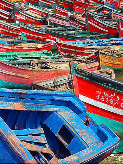 Barques Port de Pêche El Jadida
