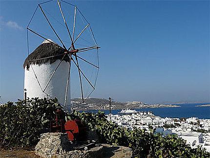 Vue sur Mykonos