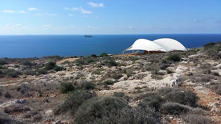 Temple de Mnajdra et l'îlot de Filla, Malte