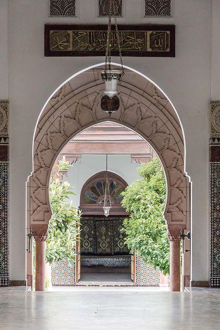 Grande Mosquée, on devine le jardin