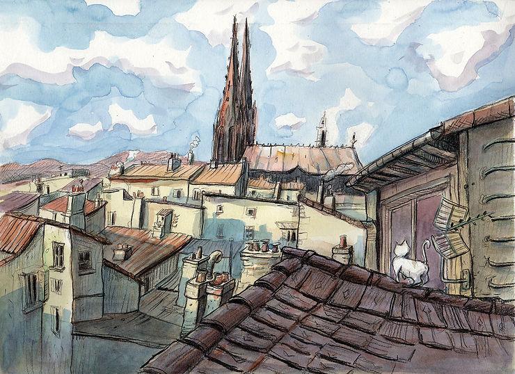 Les toits de Clermont-Ferrand, Auvergne