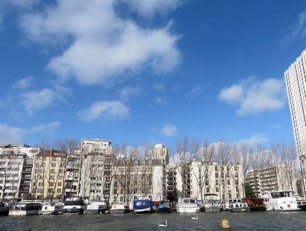 Paris en hiver, Canal de l'Ourcq