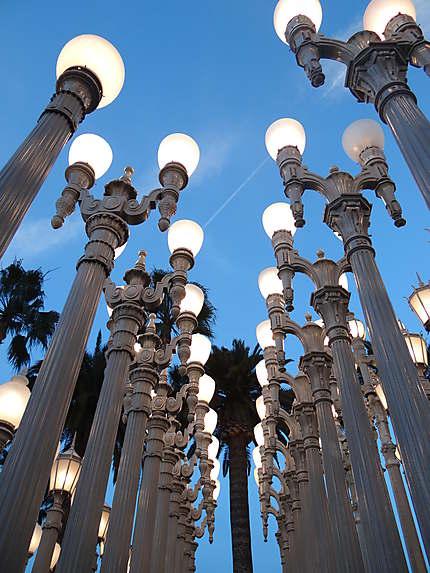 Les lampadaires du LACMA
