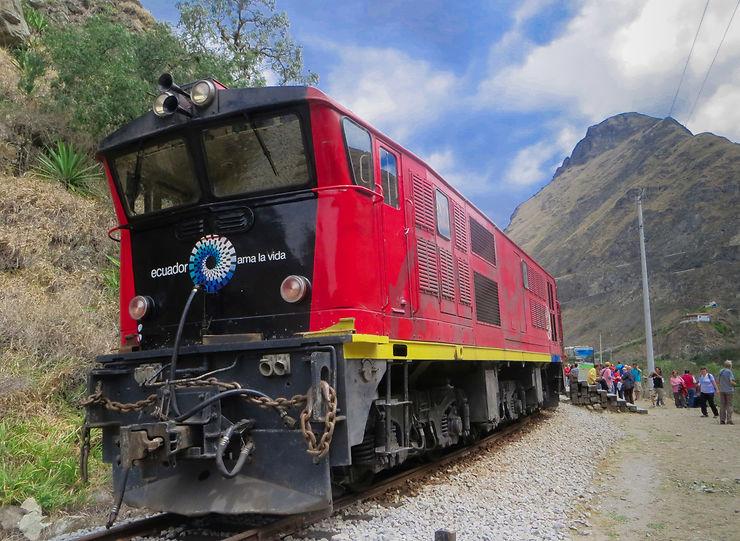 La Nariz del Diablo - Sur un train perché en Equateur