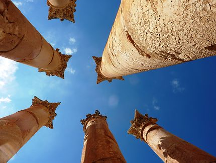 Jerash - Colonnes