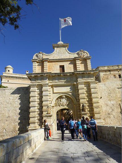 Porte principale à Mdina, Malte