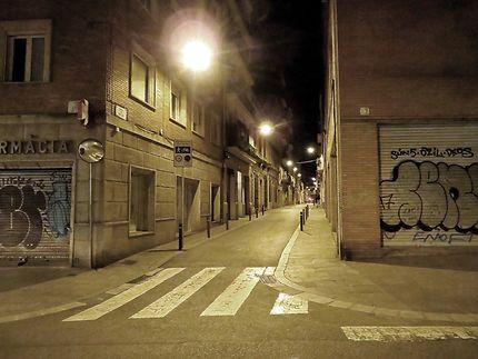 Rues et quartier éloignés du tourisme