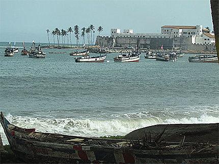 Pêche près du fort Elmina