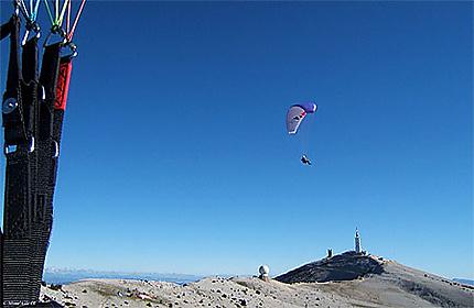 Face Sud du Mont Ventoux, vue en Parapente