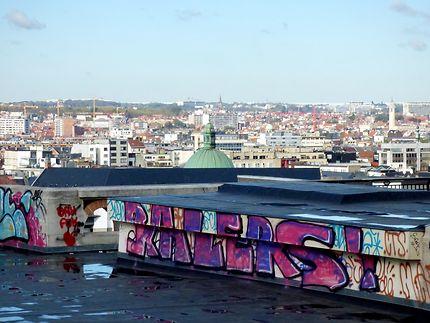 Graff et panorama sur Bruxelles