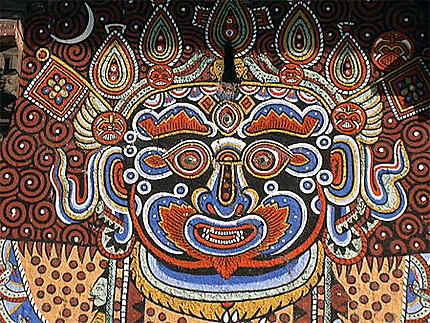 Mueral peinture de temple du Chandeswori à Banepa, Népal