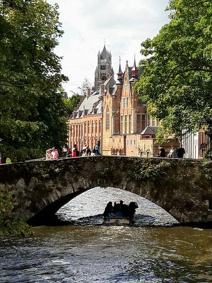 Canaux de Bruges, en Belgique