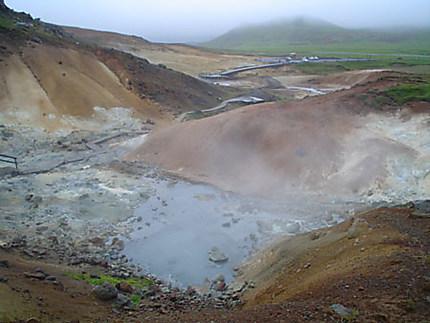 Sources chaudes au lac de Kleifarvatn