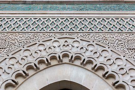 Grande Mosquée, détail façade entrée