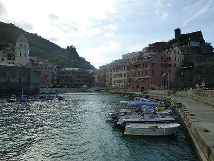 Village depuis le port, Cinque Terre