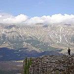 En haut de Gjirokaster, Albanie