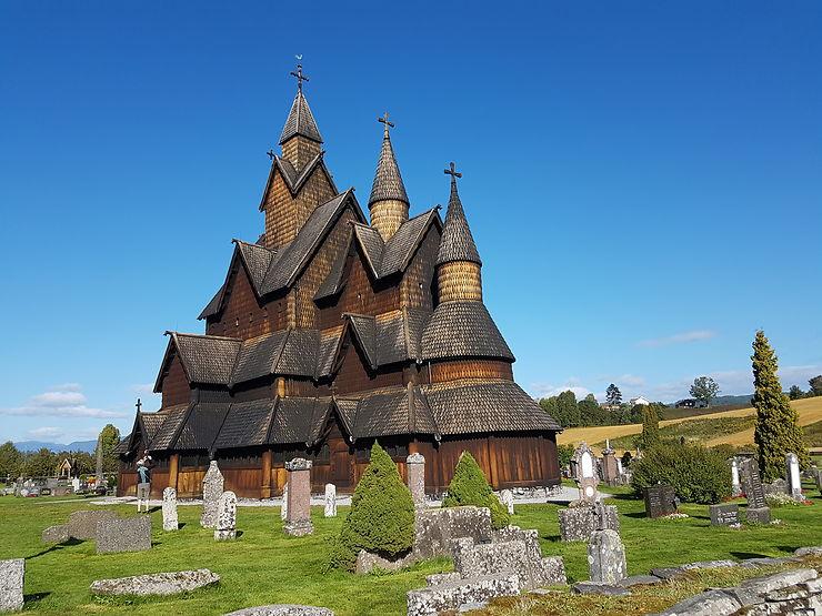 Église en bois debout à Borgund, Norvège