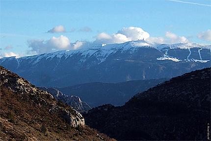 Mont Ventoux vu du Col d'Ey