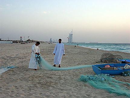 Pecheurs à Dubai
