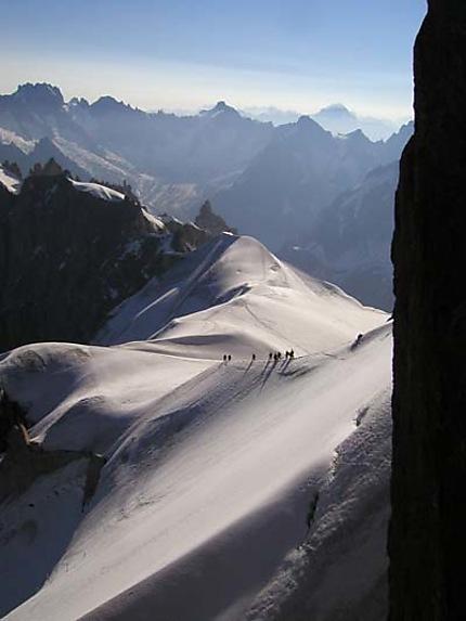 L'arête de l'Aiguille du Midi
