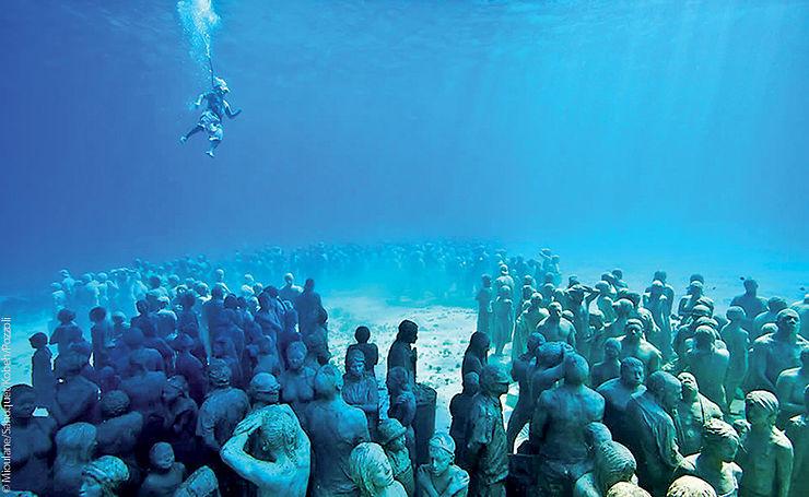 Sculptures de Jason de Caires Taylor, Isla Mujeres, Mexique