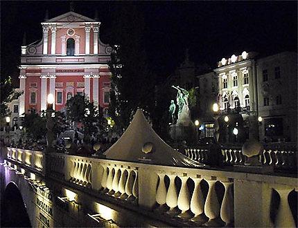 Place France Preseren de nuit
