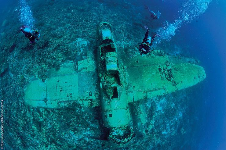 Épave d'un l'hydravion japonais, Palau