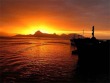 Moorea coucher de soleil