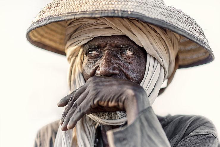 Ancien de la tribu nomade Wodaabe, Tchad