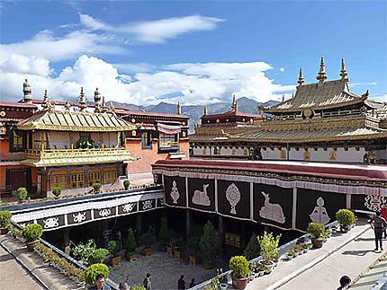 Monastère de Jokhang -Sur la terrasse