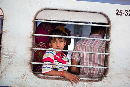 Le train de Delhi à Varanasi