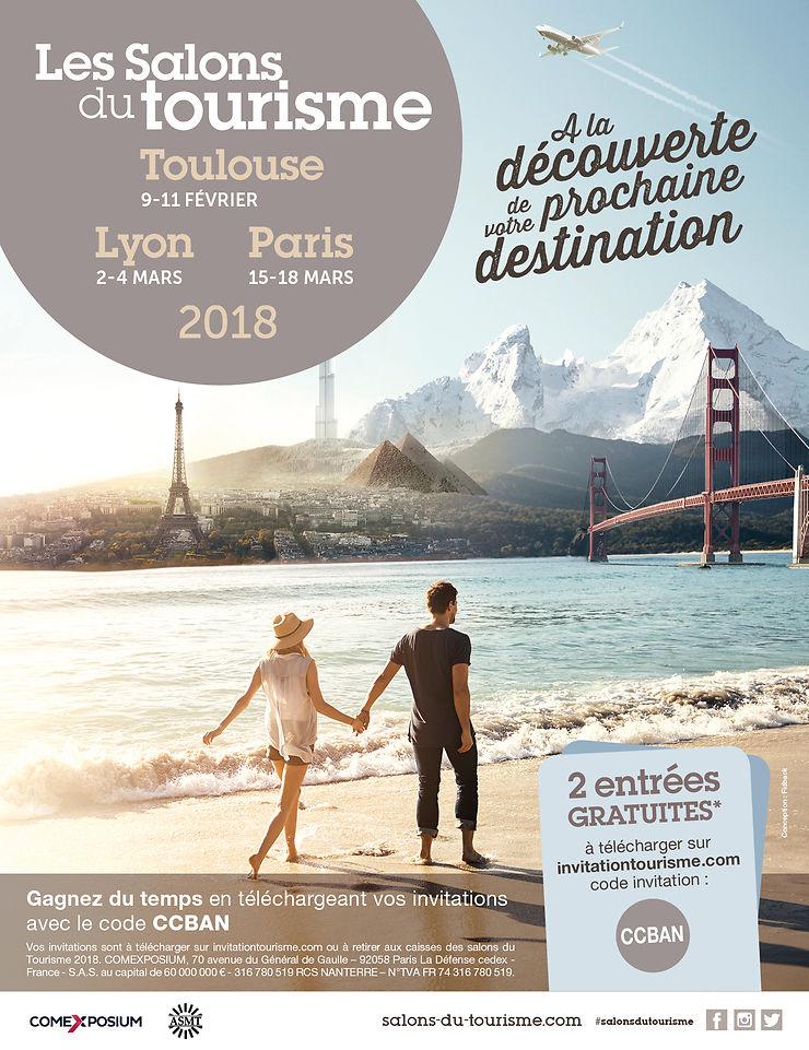 Salons du tourisme à Lille, Toulouse, Lyon et Paris