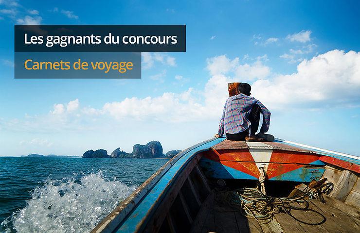 Concours carnets de voyage : les gagnants
