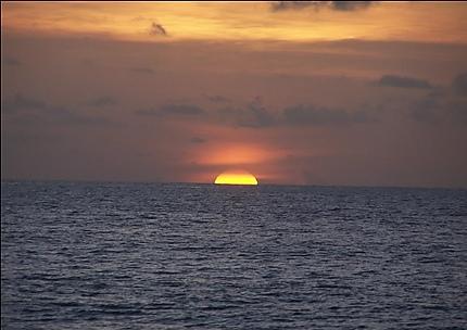 Coucher de soleil à la Grande Anse