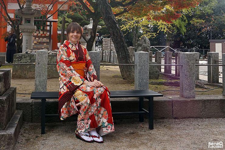 Tu as créé un projet « Fukuoka Kimono Walk » qui consiste à mettre en valeur les plus beaux endroits de Fukuoka et la culture japonaise notamment grâce au kimono, peux-tu nous en dire plus ?