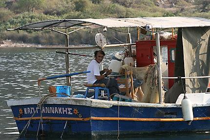 Pêcheur à Lesbos