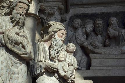 Cathédrale de Lausanne, le portail des apôtres