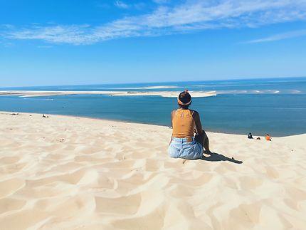 Être au sommet de la dune