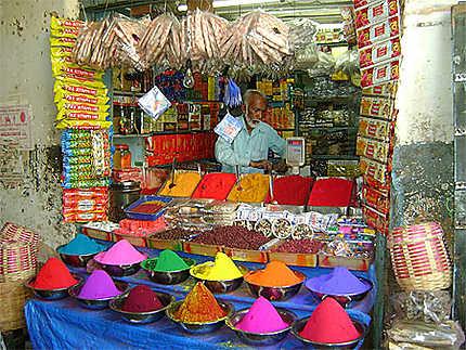 A la sortie du marché central de Mysore