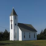 Église St-Marks (1836) à Miscou