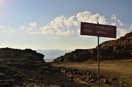 La route au col du paradis