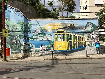 Une fresque à Santa Teresa (Rio de Janeiro)