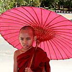 Le petit bonze à l'ombrelle