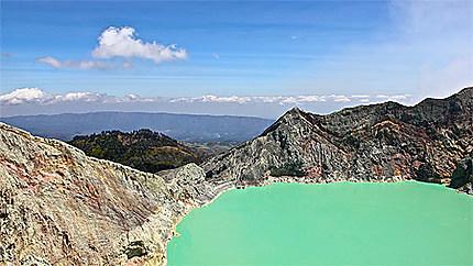 Lac d'acide sulfurique du Kawah Ijen