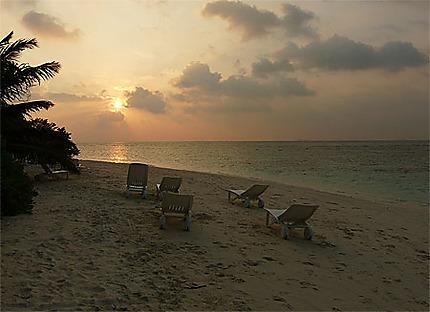 Coucher de soleil sur l'île